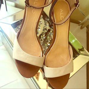 ALDO ankle strap 3 color leather dress sandal